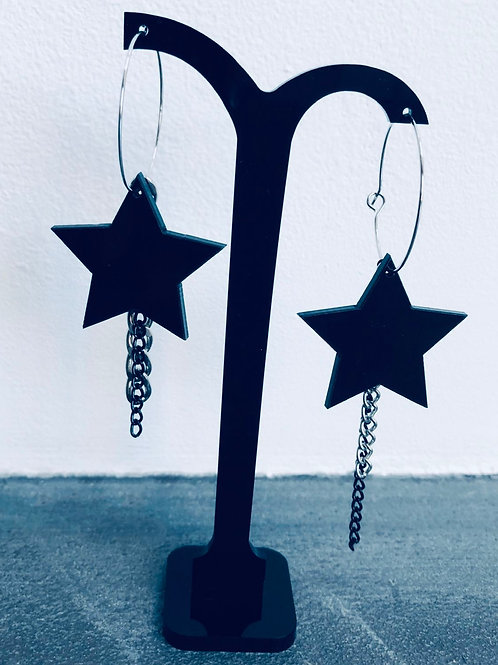 """boucles d'oreilles """"chained stars"""""""