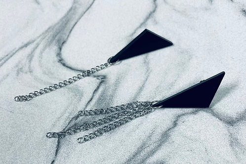 """boucles d'oreilles """"chain asymmetry """""""