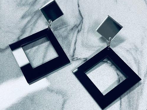 """boucles d'oreilles """"maxi square"""""""