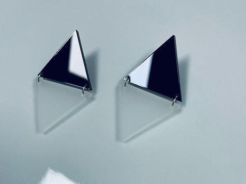 """boucles d'oreilles """"half triangle"""""""