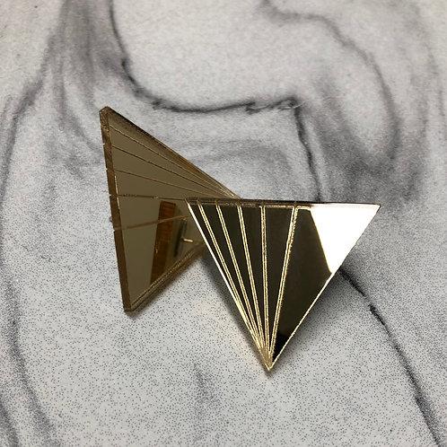 """boucles d'oreilles """"triangle fan"""""""