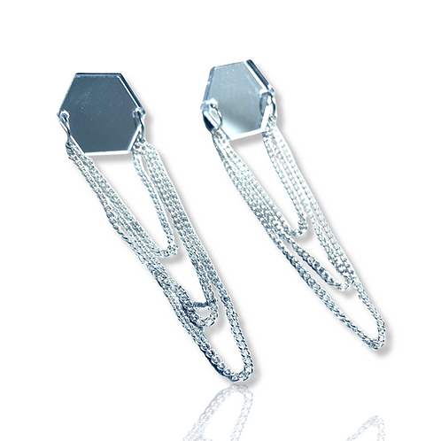 """boucles d'oreilles """"double chained beehives"""""""