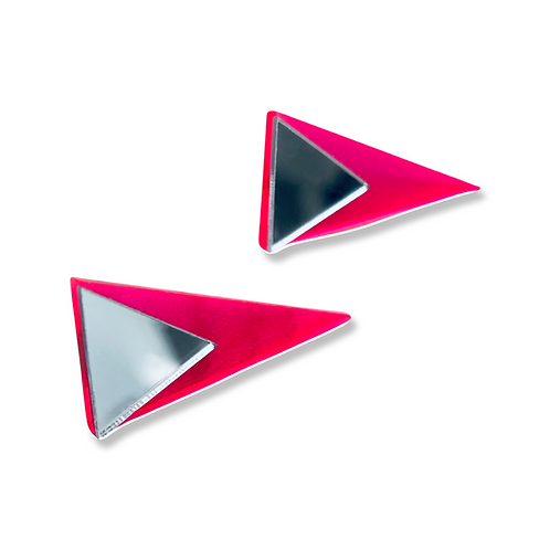 "boucles d'oreilles ""lying triangle"""