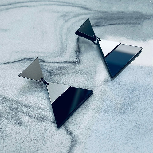 "boucles d'oreilles ""pyramid"""