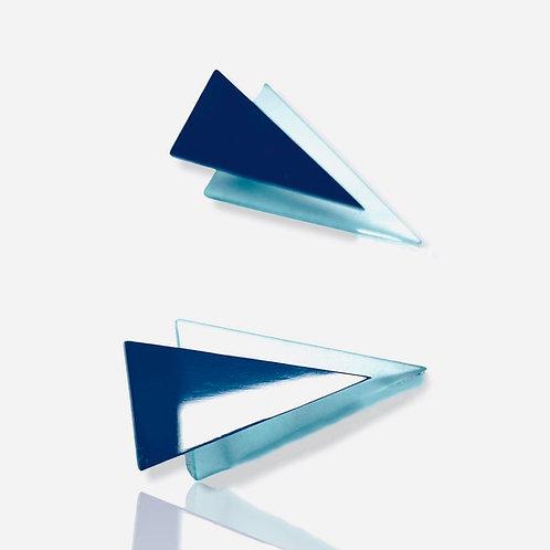 "boucles d'oreilles ""glass triangles"""
