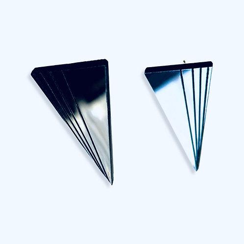 """boucles d'oreilles """"triangle fan2"""" little"""