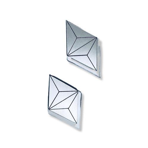 """boucles d'oreilles """"diamond 3d"""""""