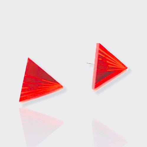 """boucles d'oreilles """"mini triangle fan"""""""