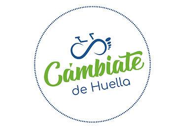 Logo Cambiate de huella verde y azul_Mes