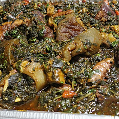Efo Riro with Assorted Meats