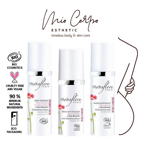 Verzorgingsroutine voor een gevoelige huid