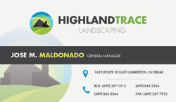 Highland Trace Business card (back)