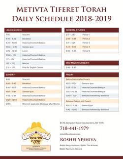 MTT - daily schedule