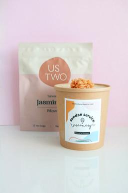 Jasmine Tea with Roasted Rice Clusters