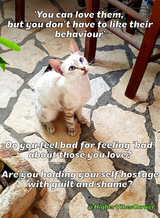 'You can love them, but you don't have to like their behaviour.'