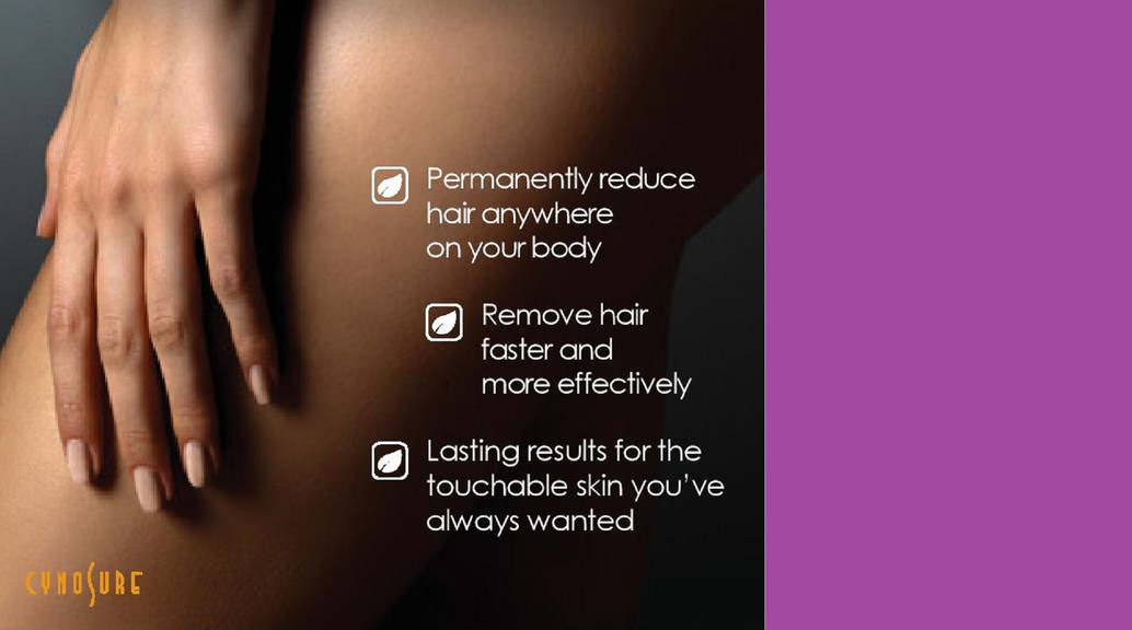 Laser Hair Removal - CYNOSURE ELITE +