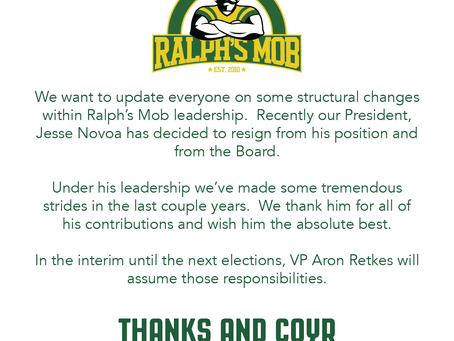 Structural change to Ralph's Mob Leadership