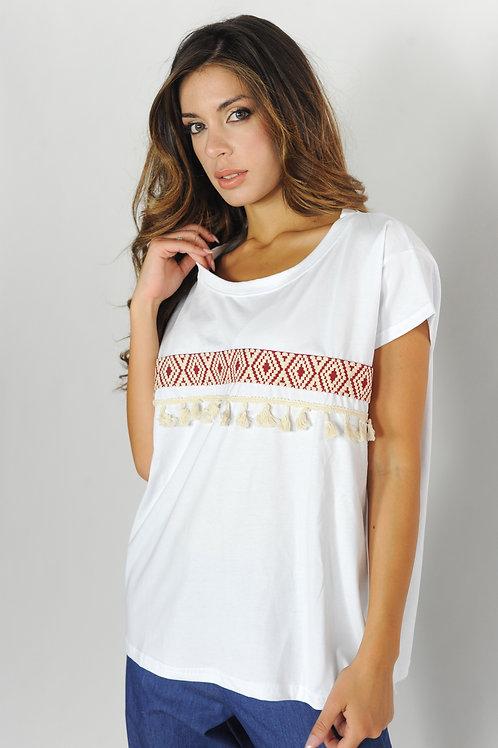 T-shirt con passamaneria