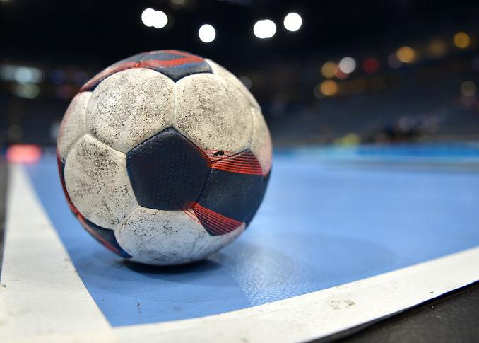 Handball auf dem Platz