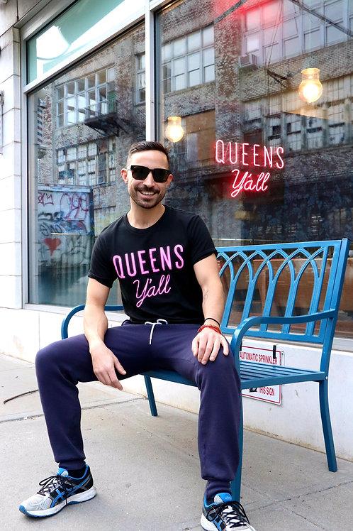 Queens Y'all Neon Tee