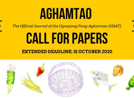 Extended Deadline: Aghamtao Journal Call for Papers