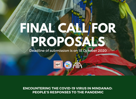 Final Call for Proposals: Encountering the COVID-19 Virus in Mindanao