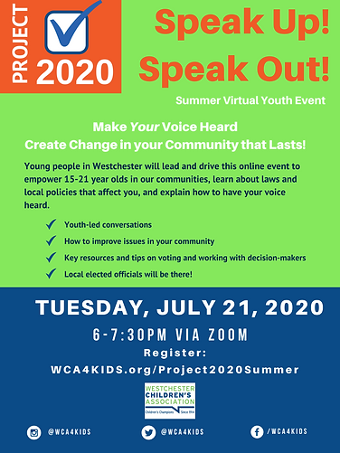 Project 2020_ Speak Up, Speak Out Flyer.