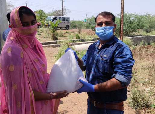 93 families from the Banchada Community reached on the Parwaliya Highway