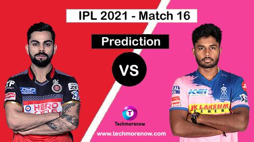 RCB Vs RR Dream11 Prediction