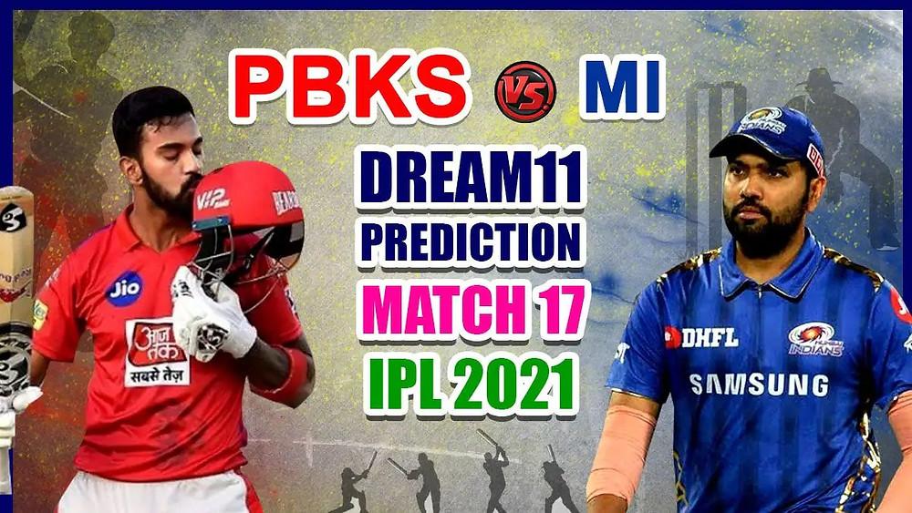 pbks vs mi dream11 prediction today