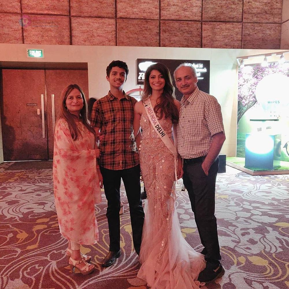 Miss Delhi Manis Sehgal Family