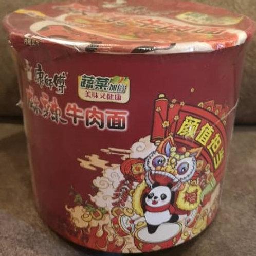 康師傅麻辣牛肉面 Kang Shi Fu Mala Beef Noodle