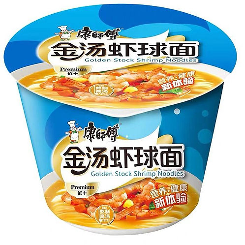 康师傅金汤虾球面 Kang Shi Fu Golden Stock Shrimp Noodle