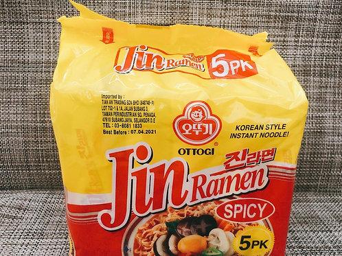 Jin Ramen Spicy Multipack Ottogi ( 120g x 5 )