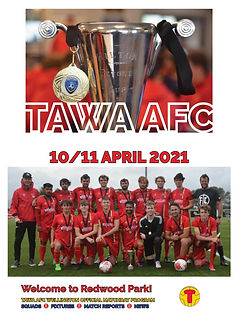 COVER - Tawa AFC PRGM - 10 April 2021 -