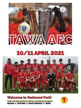 COVER - Tawa AFC PRGM - 10 April 2021 -
