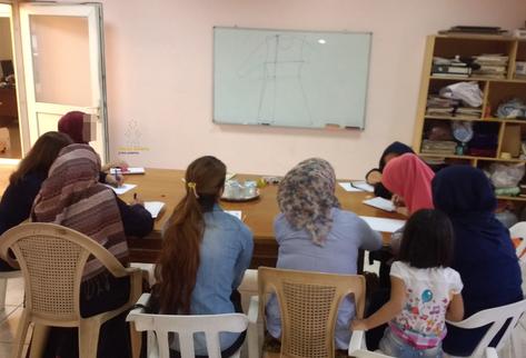 Capacitando a mujeres refugiadas