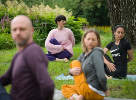 Йога в парке Сокольники 26 июля