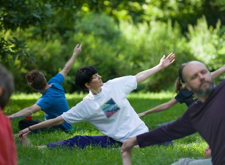 Йога в парке Сокольники 19 июля 2020