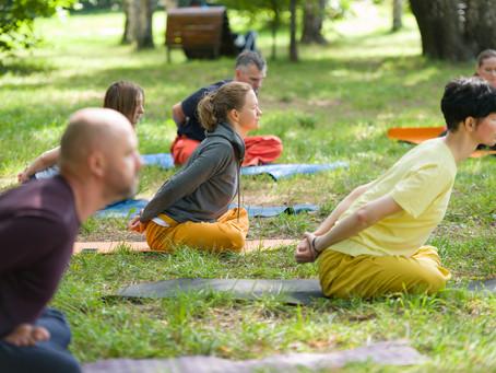 Йога в парке Сокольники 9 августа 2020
