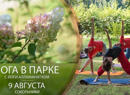 Йога в парке с Йоги Алламанатхом. Сокольники, 9 августа