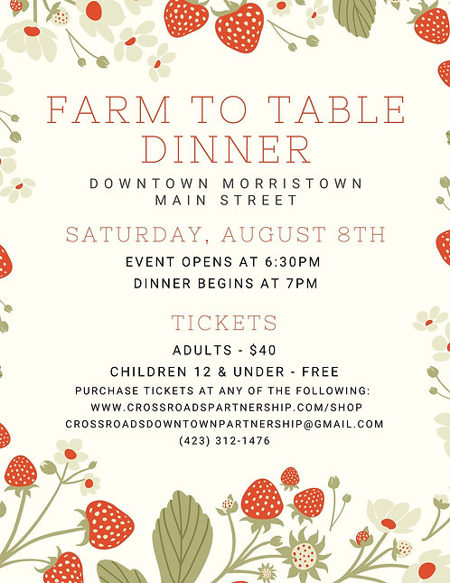 Farm to Table Dinner Adult Ticket
