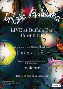 Buffalo Bar March 2016 Tour Poster