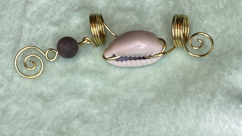 Wrapped Cowrie with bead