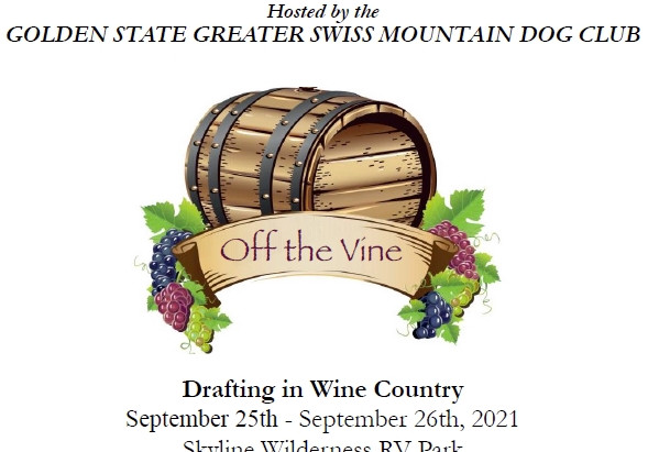 Off the Vine Two Day ALL BREED Draft Test September 25th - September 26th, 2021
