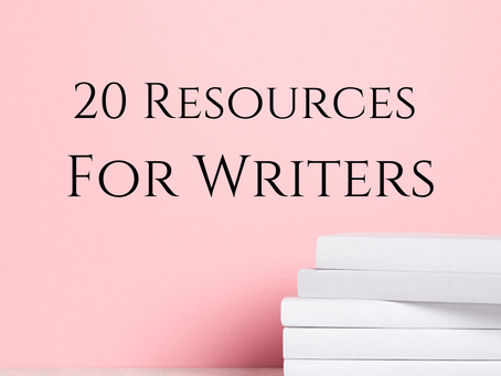 20 Resources For Writers