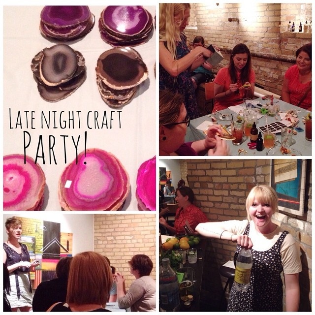 late night craft party