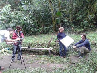 Shooting a promo video for Un poco del Chocó