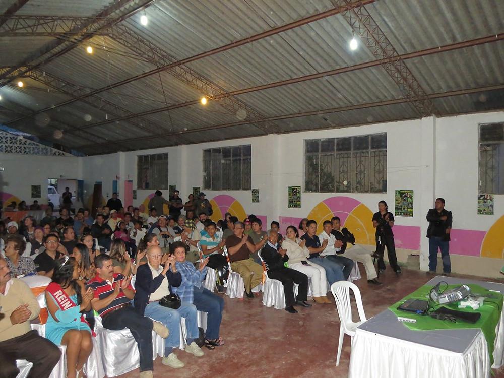 Opening ceremony in Mindo