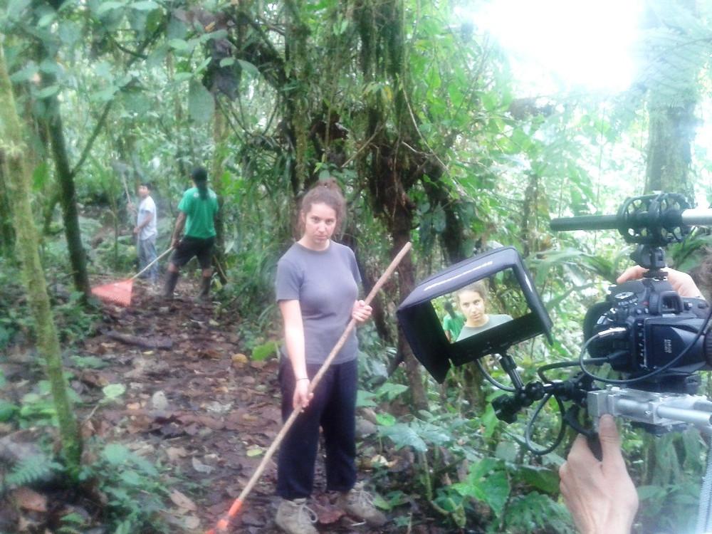 Video shoot on volunteer work